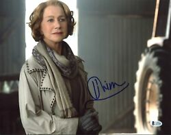 Helen Mirren Red Authentic Signed 11x14 Photo Autographed Bas C63548