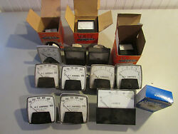 Large Lot Of Panel Meters. Ge / Simpson + Other Panel Meter. Lot Of 14