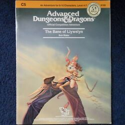 C5 The Bane Of Llywelyn Advanced Dungeons And Dragons Adventure Module Adandd 9109