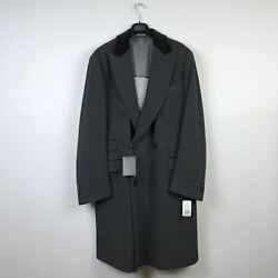 Men's Paul Smith NWT Dark Gray Wool Cashmere Coat Size 46 Made in Italy MSRP $13