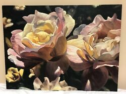 30 X 40 Unframed Michael Gerry Canvas Floral Lithograph Signed 130/750 Limited