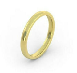 14k Yellow Gold Band 3m Dome Heavy Weight Comfort Fit Sz 3 - 15 Half And 1/4 Sizes