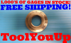 3/4 - 14 Nptf Pipe Thread Ring Gage .75 N.p.t.f. Inspection Machinist Tooling
