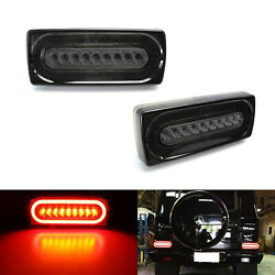 Smoked Lens Led Sequential Turn Signal/tail Lights For 1999-18 Mercedes G-class