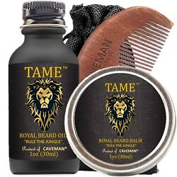 Hand Crafted Caveman® Beard Oil Set KIT Beard Oil Balm FREE Comb New Arrival