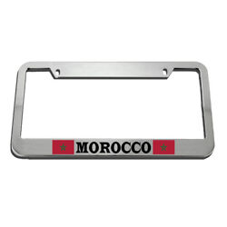 License Plate Frame Morocco Flag Moroccan Zinc Weatherproof Car Accessories
