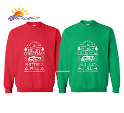 Mens Merry Christmas Shitterand039s Full Long Sleeve Crew Neck Solid Color T-shirt