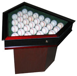 30 Baseball Homeplate Shaped End Table - Sports Display Case - Usa Product