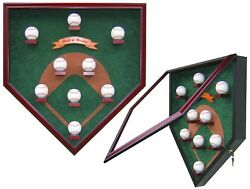 My Field Of Dreams Vintage Edition Homeplate Shaped Display Case - Classic