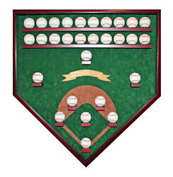 25-29 Baseball Field View World Series Champions Homeplate Shaped Display Case