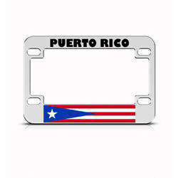 Metal Bike License Plate Frame Puerto Rico Flag Style B Motorcycle Accessories