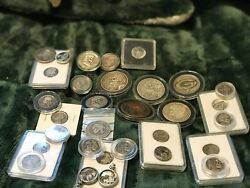 COALBURN HOBO COLLECTION 31 hand carved Coins in nickels  quarters