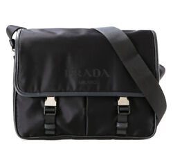 PRADA Mens Cross Body Messenger Shoulder Bag Black 2VD768 064 NERO Nylon Genuine