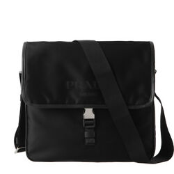 PRADA Mens Cross Body Messenger Shoulder Bag Black 2VD951 064 NERO Nylon Genuine