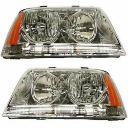 New Head Lamp Assembly Hid Set Of 2 Left And Right Side Fits Lincoln Aviator