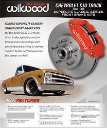 Wilwood Front Disc Brake Kit1960-63 Chevyc10gmc11.86 Rotorsredwith Linesand039