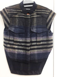 [SUNO] Wool Vest Jacket Top Checked Pattern Sz US4  New With Tags