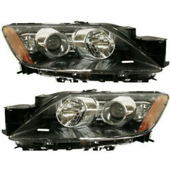 New Set Of 2 Left And Right Side Hid Head Lamp Lens And Housing Fits Mazda Cx-7
