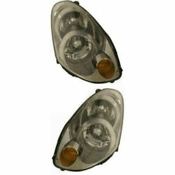 Set Of 2 Driver And Passenger Side Hid Headlamp Assembly Fits 2005 Infiniti G35