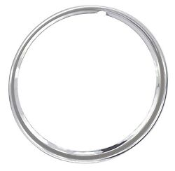 1940and039s 50and039s 16 Smooth Hot Rod Rat Rod Trim Rings Beauty Rings Set Of 4 1 1/4