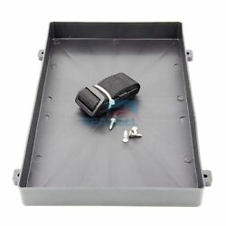 Plastic Battery Tray With Strap For Rv Truck Marine Boat Size 12.8 7.7  1