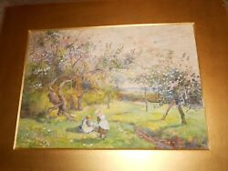 T. Phillips Antique 1897 English Watercolor/ S.devon/ Donald Kendall Owned