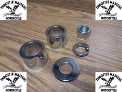 Chrome Plated Front Axle Spacer Kit For Harley 2008 And Up Flh Flt Touring Bikes
