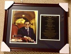Joe Paterno Signed 11x14 Penn State Library Photo 21x26 Framed Display Psa/dna