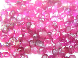 2.004.00 Mm Round Pinkish Red Color Ruby Gemstone Lot @ Free Shipping
