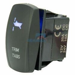 Boat Trim Tabs Rocket Switch Led Carling Arb Etched 7pin On-off-on Dpdt