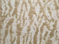 Clarence House Abstract Linen Print Upholstery Fabric- Le Marche / Beige 7.65 Yd