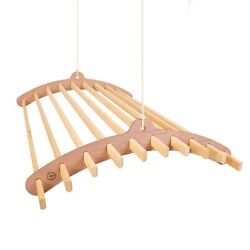 10 Lath Wooden Clothes Drying Hanger Or Pot Rack - Ceiling Mounted Airer