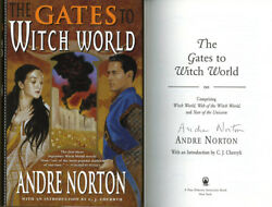 Grand Master Andre Norton Signed Autographed The Gates To Witch World Hc 1st Ed
