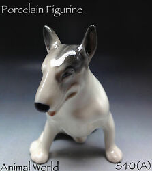 Bull Terrier porcelain statue dogs Pitbull Made in Russia