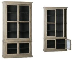 Painted Bookcase/china Cabinet