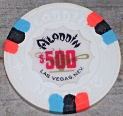 500 Vintage 9th Edt Gaming Chip From The Aladdin Casino Las Vegas R8