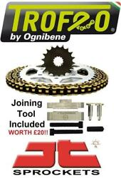 955 Sprint Rs Twin Side Swing 00-03 Trofeo And Jt Chain And Sprocket Kit + Tool
