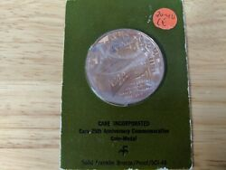 Care Incorporated 25th Anniversary Solid Bronze Medal Franklin Mint D6280