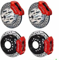Wilwood Disc Brake Kitcomplete1970-1973 Mustangdrilled Rotorsred Calipers And039