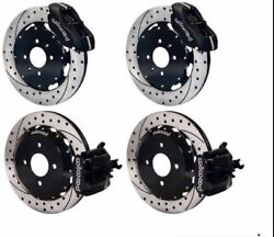 Wilwood Disc Brake Kithonda Del Sol W/o Abs11 Drilled Rotorsblack Calipers And039
