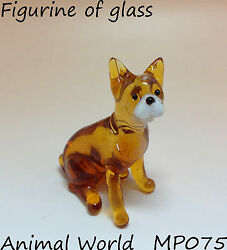 Figurine dog French Bulldog Blown glass Souvenirs Russian handmade miniature