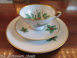 Hutschenreuther Germany Trio Cup/saucer/plate Noel Pattern [maddockbx]