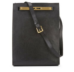[Sophie Hulme] Black Keyhole Shopper Leather Shoulder Bag  Limited Design  New