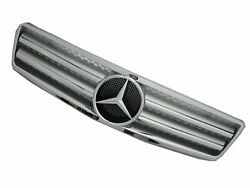 R129 1989-2002 GRILLEGRILL 2FIN SILVER for Mercedes-Benz