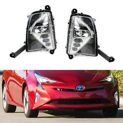 Complete Oem-spec Led Drl/fog Lamp Kit W/wiring Harness For 2016-18 Toyota Prius