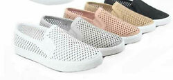 Women's Causal Slip On White Sole Round Toe Boat Sneaker Shoes Size 5.5 - 11 NEW