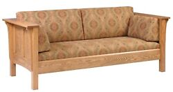 Mission Arts And Crafts Stickley Style Prairie Panel Sofa Couch Made To Order