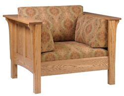 New - Mission Arts And Crafts Stickley Style Prairie Panel Chair Made To Order