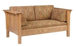 Mission Arts And Crafts Stickley Style Prairie Panel Loveseat Made To Order