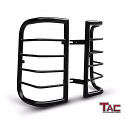 Tac Tail Rear Light Guards Cover Protector For 2000-2004 Nissan Xterra Tlg Black